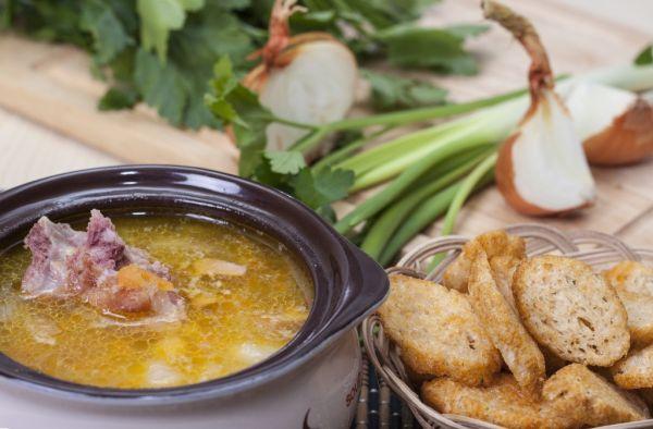 Záhradná polievka s parmskou šunkou |