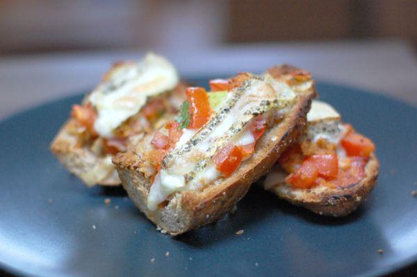Zapekané bagetky a´la gazpacho |