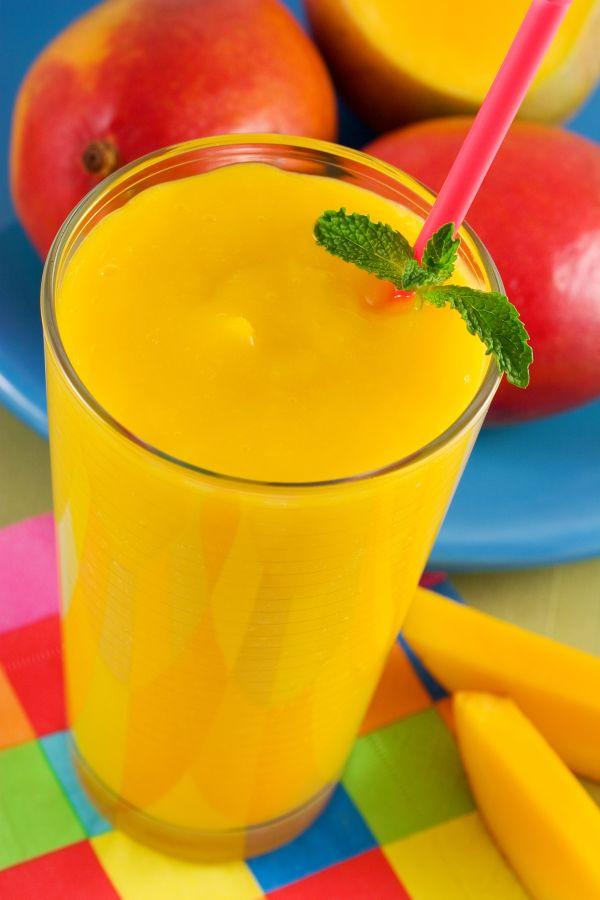 Žlté smoothie plné vitamínov |