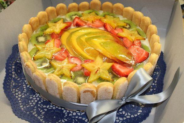 Jogurtovo-pribináčikovo ovocná torta |