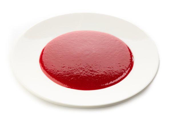 Malinová polievka so škrobovou múčkou  