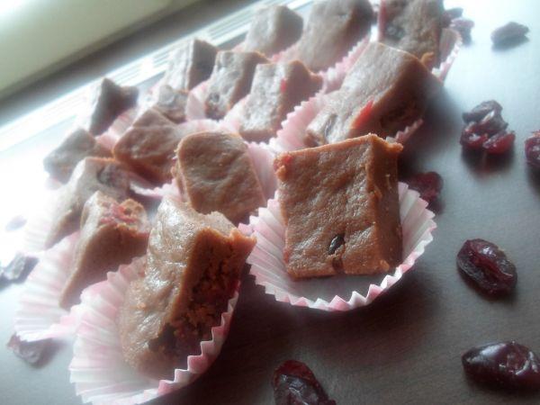 Čokoládový fondán s brusnicami |