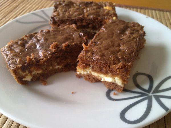 Strúhaný kakaovo-tvarohový koláč |