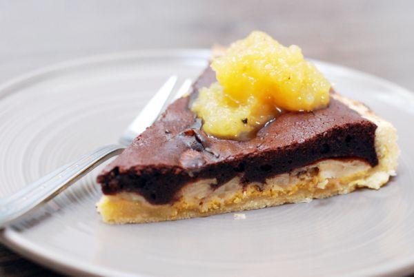 Čokoládovo-jablkový špaldový koláč |