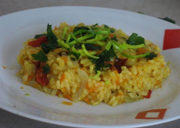 Mrkvové rizoto so sušenými paradajkami |