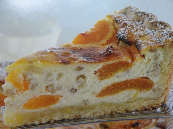 Tvarohový koláč s marhuľami |
