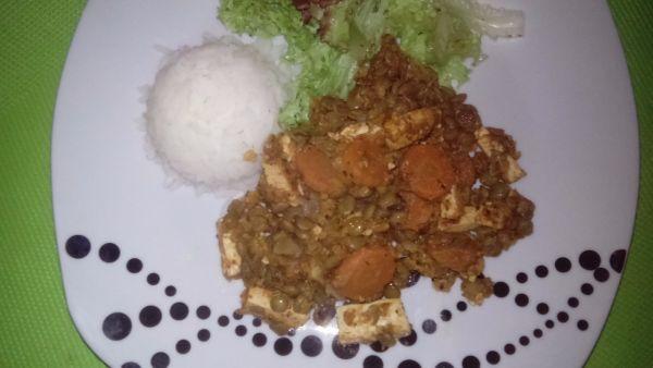 Pikantné tofu so šošovicou |