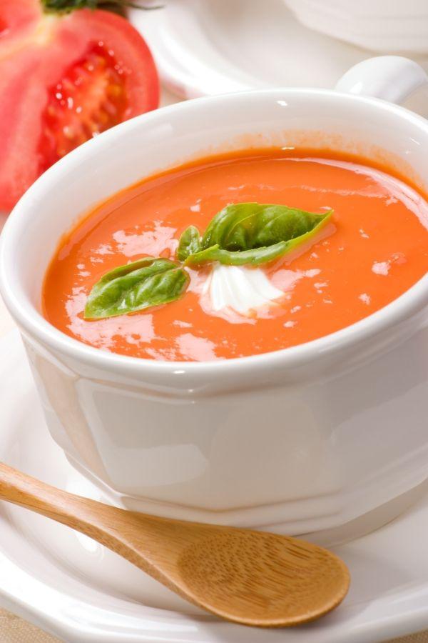 Krémová paradajková polievka |