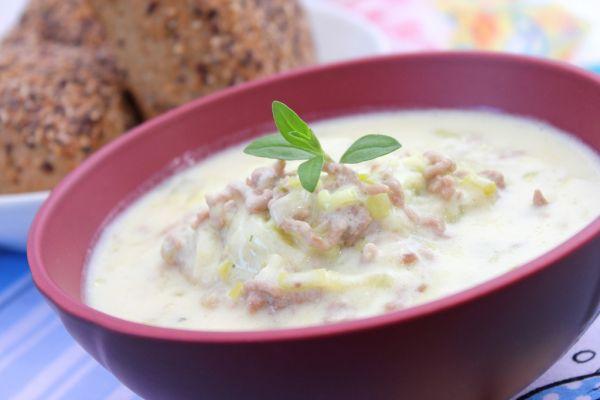 Syrová polievka s mletým mäsom |