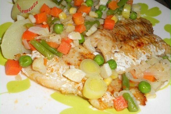 Rybie filé v zelenine |