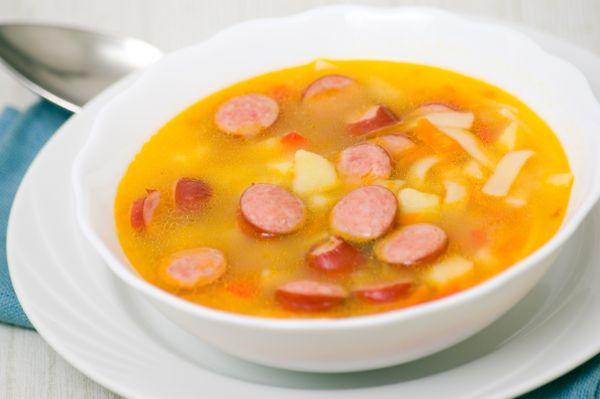 Párková polievka so šunkou |