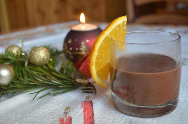 Horúca čokoláda s vôňou pomaranča |