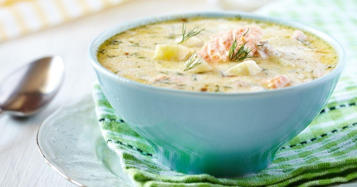 Kyslá rybacia polievka so zeleninou, fotogaléria 1 / 1.