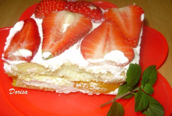 Nepečený ovocný koláč |