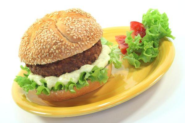 Domáci hamburger s mletým mäsom |