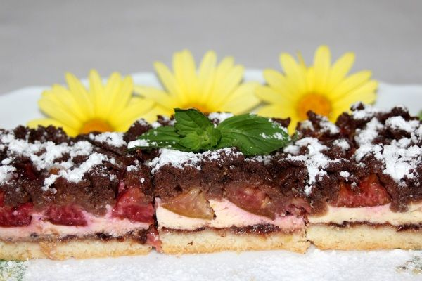 Tvarohový koláč so slivkami  