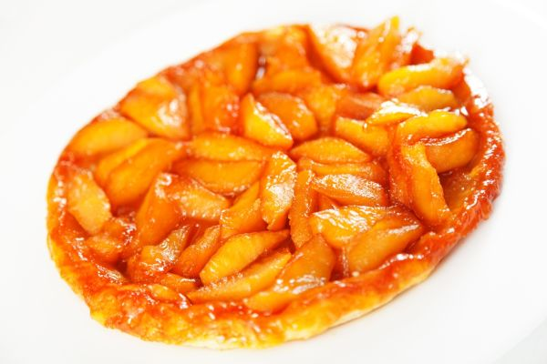 Obrátený jablkový koláč  Tarte Tatin |