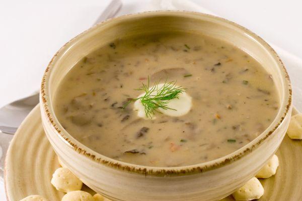 Zelerová polievka s hríbami |