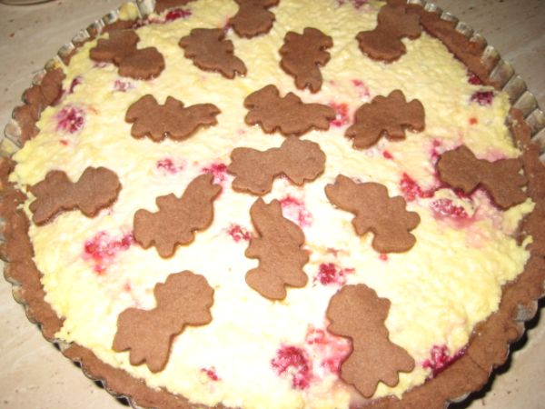 Veľkonočný tvarohovo-malinový koláč |