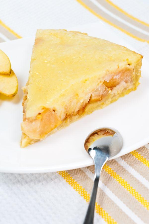 Jablkový koláč s vanilkovým krémom |