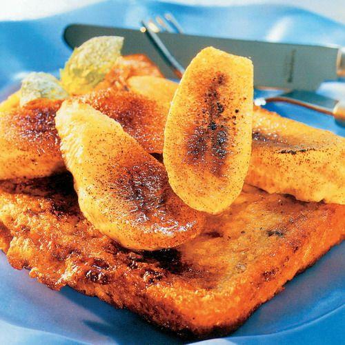 Chlebíky s glazovanými banánmi |