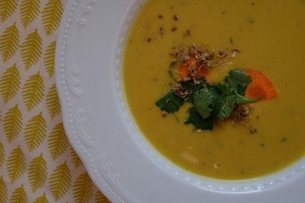Cícerovo- kokosová polievka |