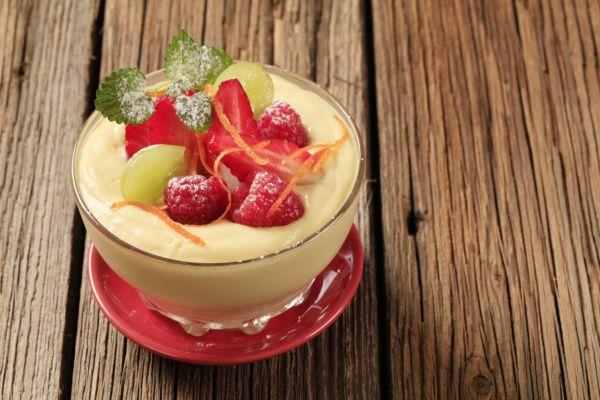 Ovocný pudingový pohár |