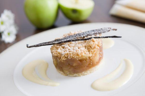 Jablkový Pie s vanilkovou omáčkou |