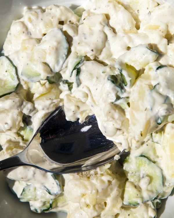 Tvarohový šalát so zemiakmi |