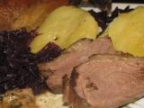 Pečená hus na zázvore, cesnaku a cibuli