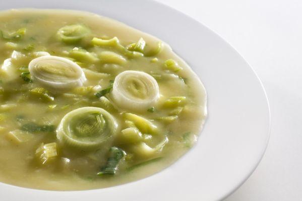 Pórová polievka so sójovým mliekom |