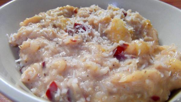 Voňavá kokosová ryža s ovocím |