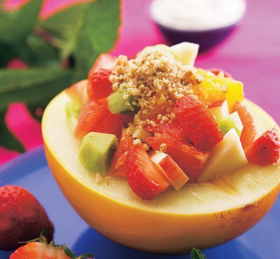 Ovocný šalát s javorovým sirupom |