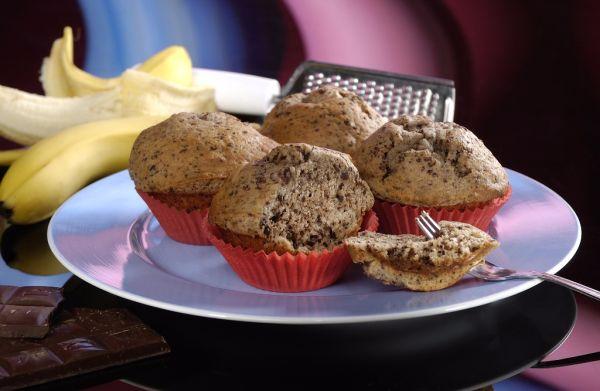 Banánové muffiny s čokoládou |
