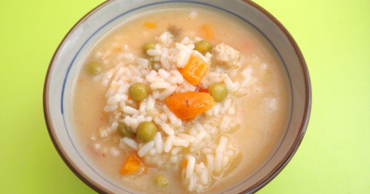 Ryžová polievka s hráškom a mrkvou, fotogaléria 1 / 1.