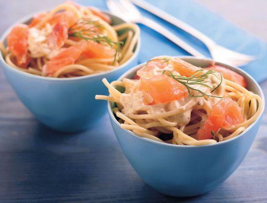 Krémové špagety s lososom |