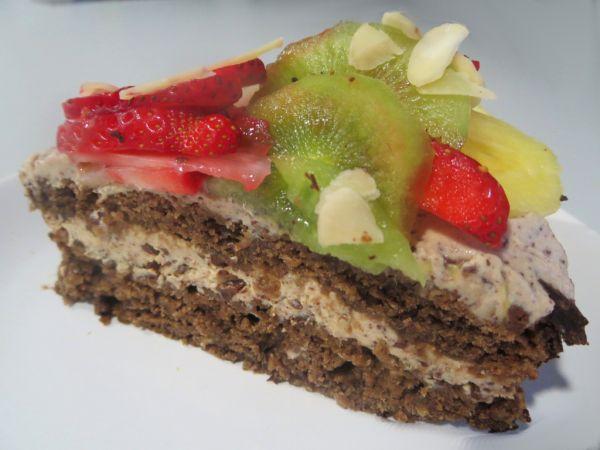 Jablková bezvaječná torta s tofu krémom |