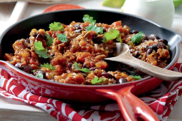 Mexické fazole s mletým masem