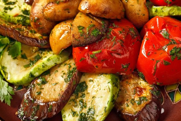 Grilovaná zelenina so zemiakmi |