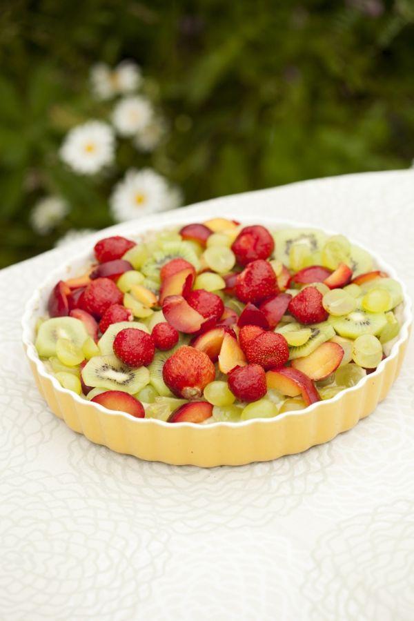 Tvarohový koláč s ovocím |