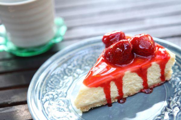 Tvarohový koláč s jahodami |