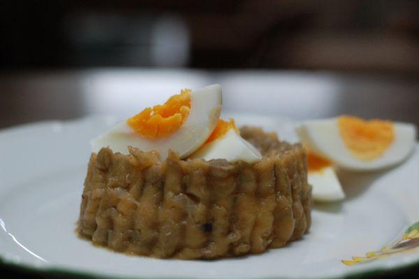 Šošovicovo-zemiaková kaša |