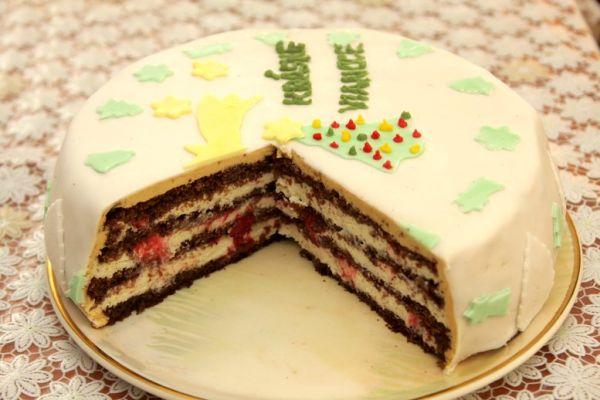 Vianočná tvarohovo-vanilková torta |