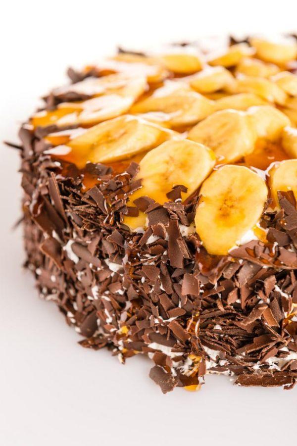 Banánová torta s vanilkovým krémom  