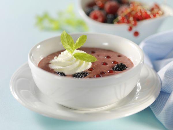 Černicová polievka s mliekom  
