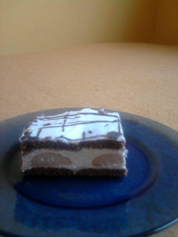 Nepečený piškótový koláč  Pribináčik |