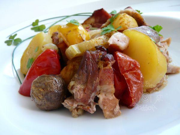 Bravčové mäso prekladané  