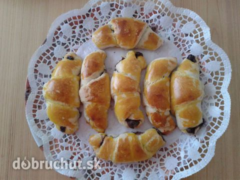 Domáce nutelové croissanty