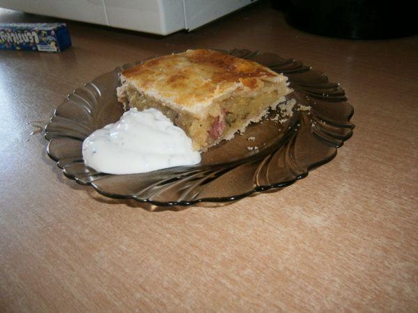 Slaný zemiakový koláč  