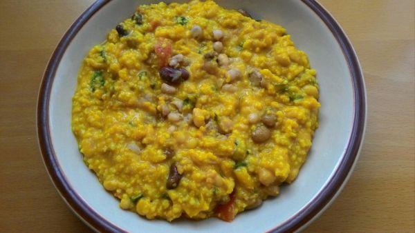 Pšenovo-fazuľové rizoto na kari |